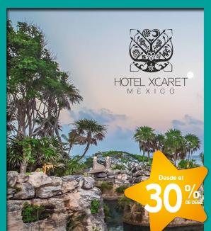 Descuento exclusivo para Colaboradores de Grupo Xcaret en Hotel Xcaret México